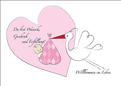 Dulce tarjeta de felicitación para nacimiento/bebé niña Baby ...