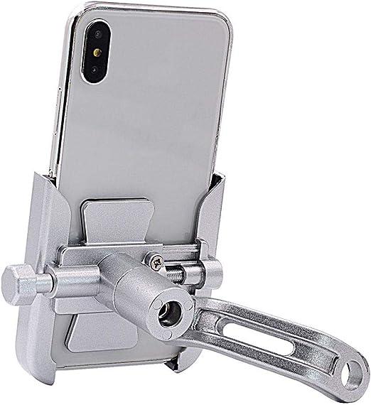 Euopat Soporte para Teléfono Bicicleta, Manillar Ajustable Moto ...