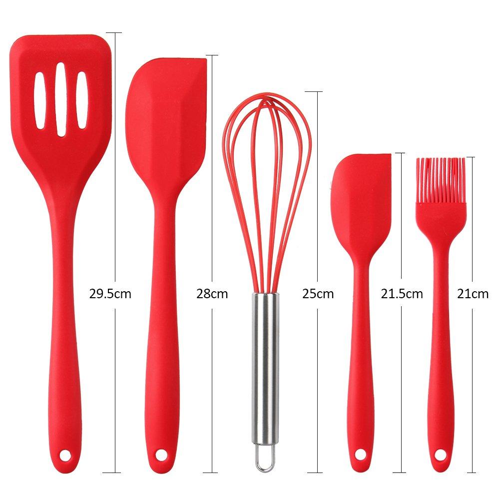 Küchenhelfer Set - Swify 10 Stück Premium Silikon Küchen Utensilien ...