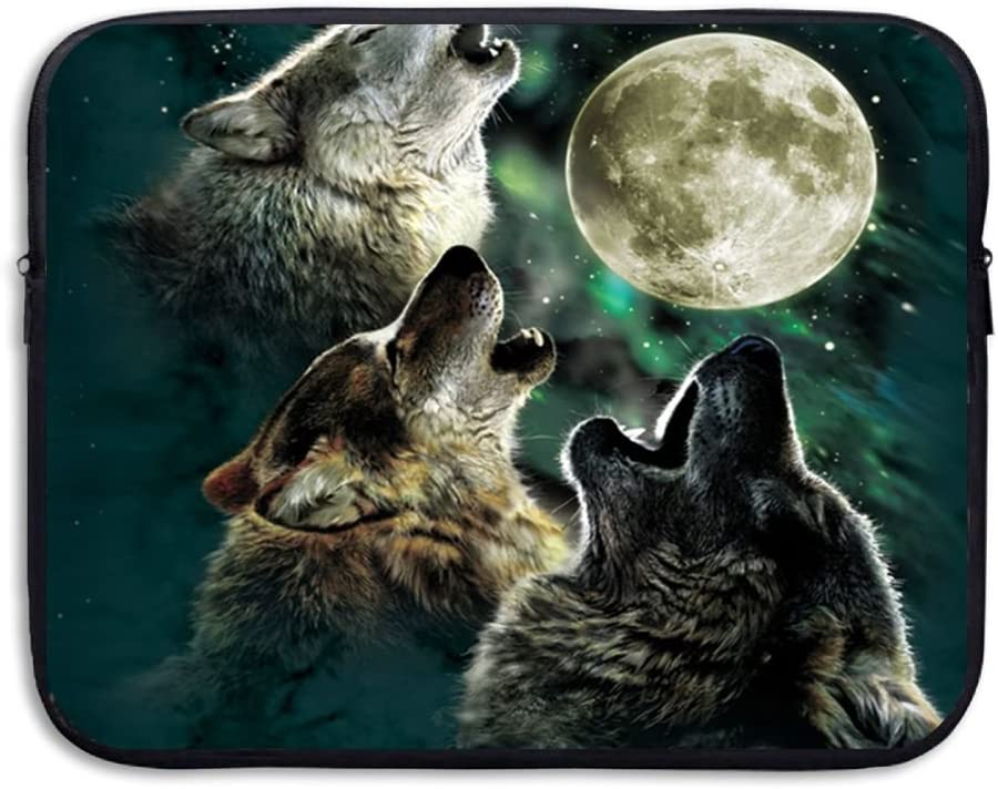 Wolf Howl Moon Star Laptop Sleeve Case Bag Cover For 13-15 Inch Notebook Computer
