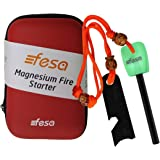 fesa Survival Gear Indoor Outdoor Long and Thick Magnesium Flint Fire Starter.