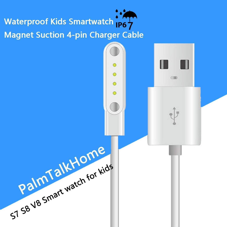 Smartwatch - Cable de Carga de 4 Pines USB con Ventosa para ...