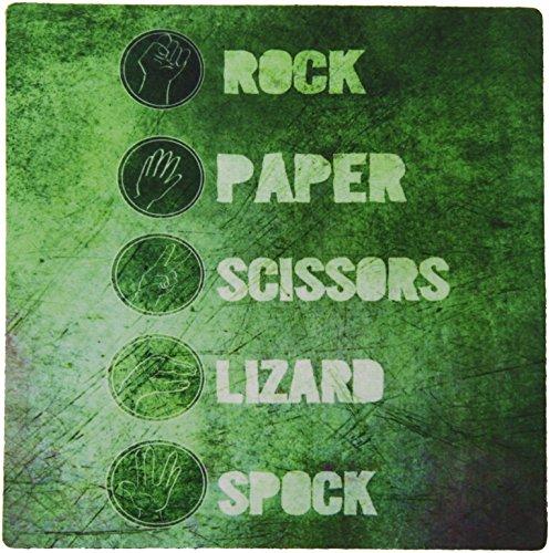 3Drose Llc 8 X 8 X 0 25 Inches Mouse Pad  Rock Paper Scissors Lizard Spock   Green  Mp 193652 1