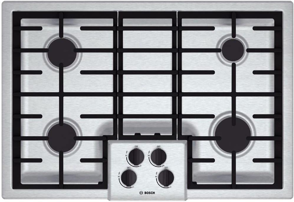 "Bosch NGM5055UC 500 30"" Stainless Steel Gas Sealed Burner Cooktop"