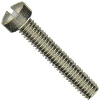 18-8 Stainless Steel Machine Screw Plain Finish Slotted Drive 1//4-20 Threads Pack of 25 Meets ASME B18.6.3 Fully Threaded 7//8 Length Pan Head
