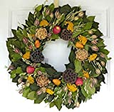 Autumn Orchard Dried Wreath 22 in [Kitchen] For Sale