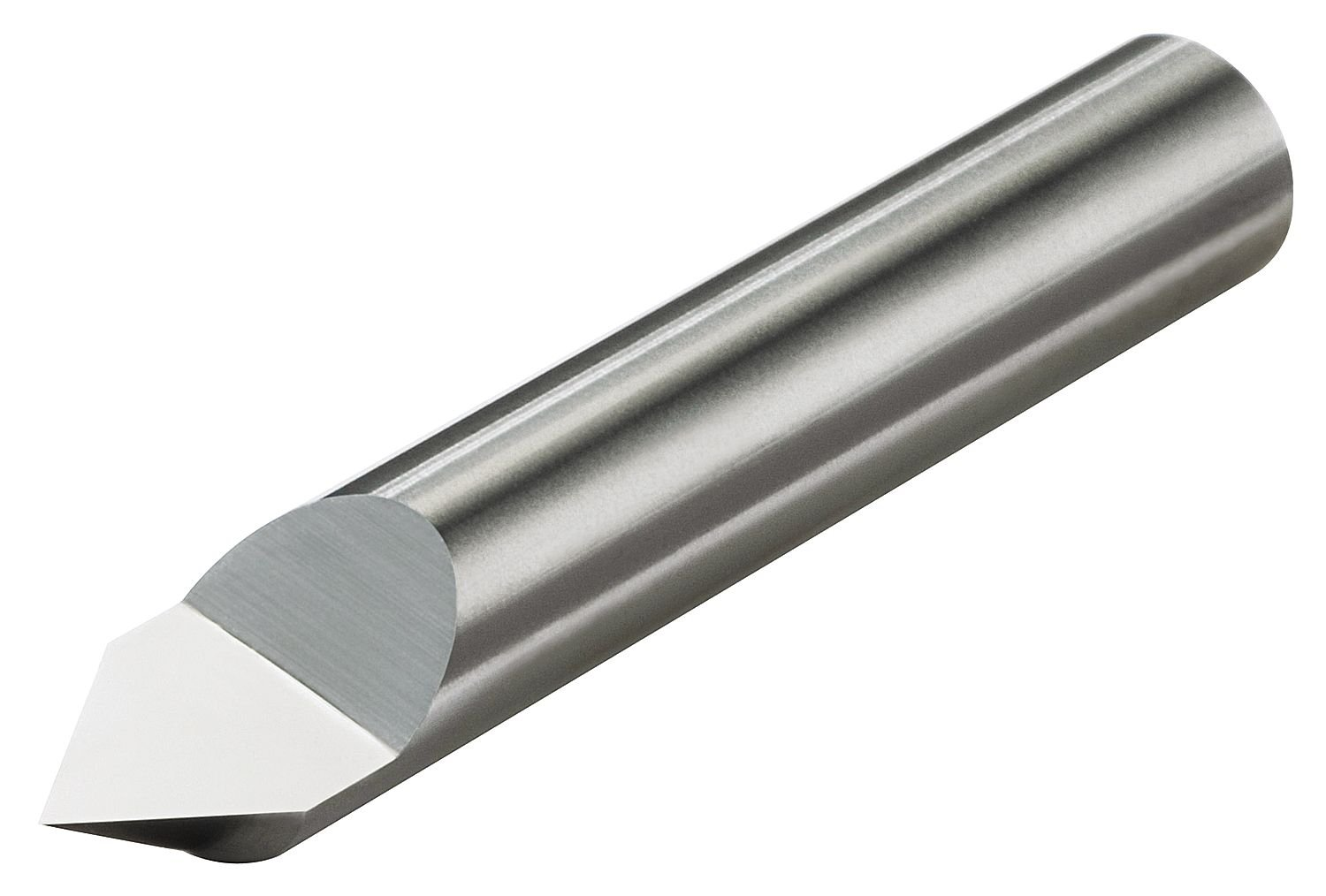 Micro 100 RTCM-030-1 Single Ended Split-End 30/° Included Angle Engraving Tool Metric Dimensions 38mm Overall Length 3mm Shank Diameter 7mm Split Length Solid Carbide Tool Right Hand Cut 0.10mm Offset Point