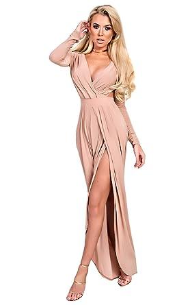Ikrush Womens Mitra Bodycon Maxi Dress Rose  Amazon.co.uk  Clothing 930bcd71f