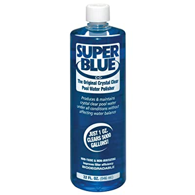 Robarb R20154 Super Blue Clarifier 1-Quart Crystal Clear Pool Water Polisher : Garden & Outdoor