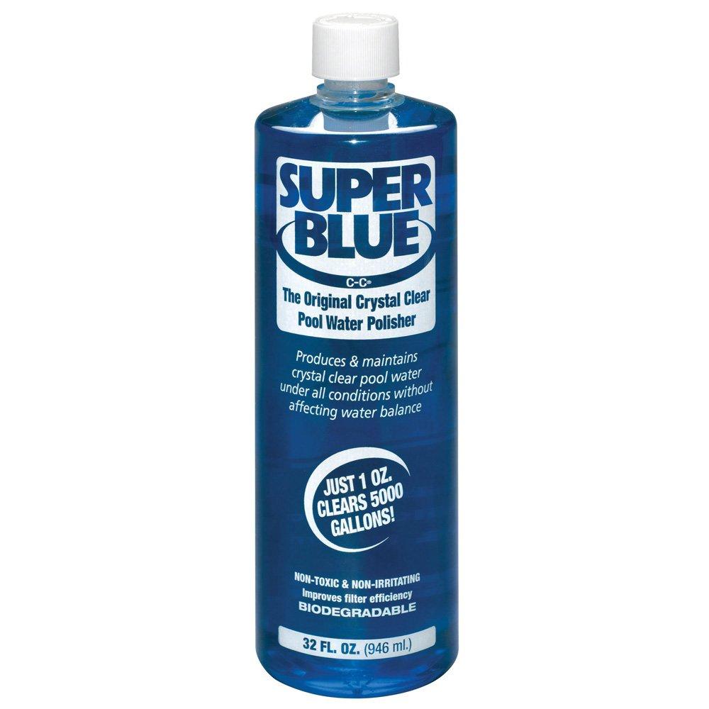 Robarb R20154 Super Blue Clarifier 1-Quart Crystal Clear Pool Water Polisher by Robarb
