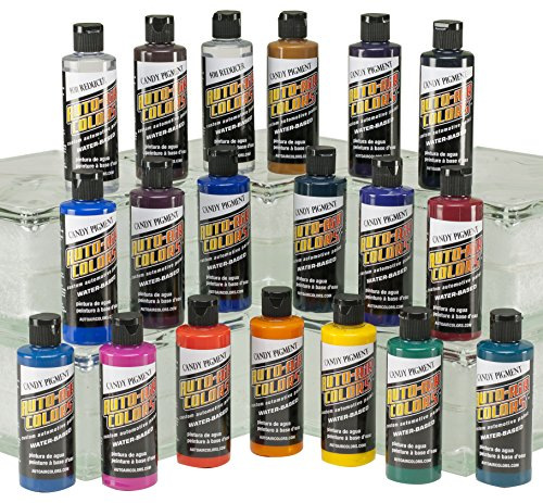 Auto Air Colors Candy Pigment Colors All Set D, 4oz. by Auto Air Colors