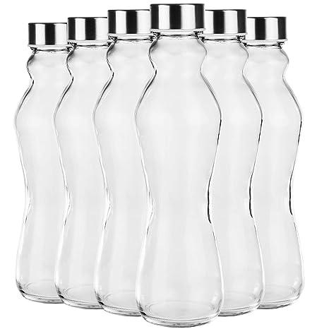 6 piezas. Botella de cristal Set Cantimplora Eddy Botella de ...