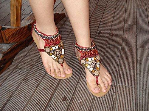 Pour Femme CNPSHOE138A Bordeaux Sandales ZAMME qwXnOUBn