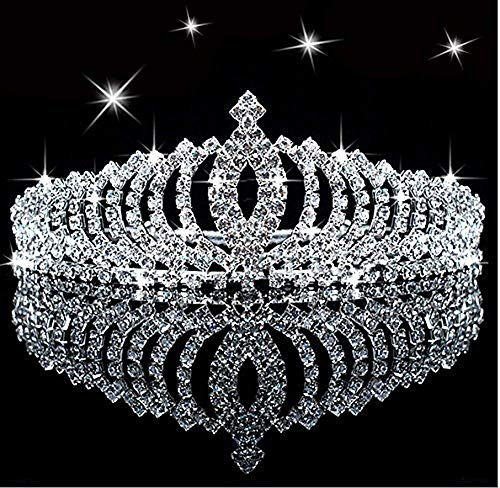 Child Tiara - SudaTek Novelty Princess Tiara Sparkle Crystal Rhinestone Kid's Crown Birthday Glitter Tiara with Comb