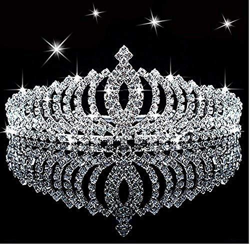 Princess Tiara - SudaTek Novelty Princess Tiara Sparkle Crystal