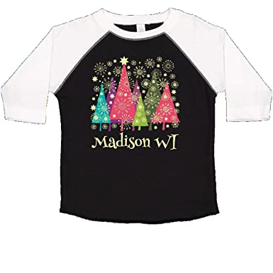 51bdc6867 inktastic - Madison Wisconsin Christmas Toddler T-Shirt 2T Black and White  1fde8