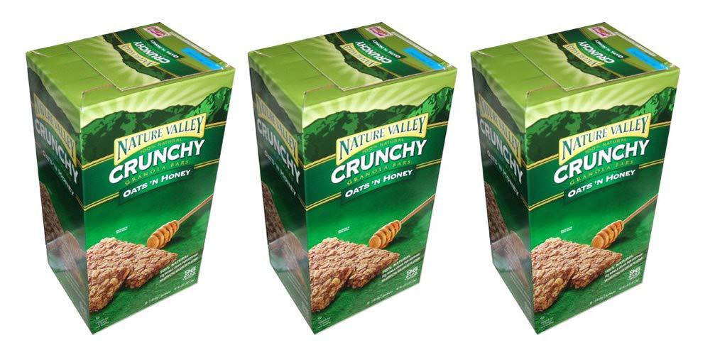 Nature Valley Crunchy Granola Bars Oats 'N Honey, 98 Bars (3 Boxes)