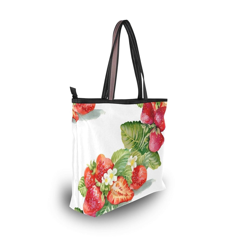 Senya Women's Handbag Microfiber Large Tote Shoulder Bag, Painted Strawberries