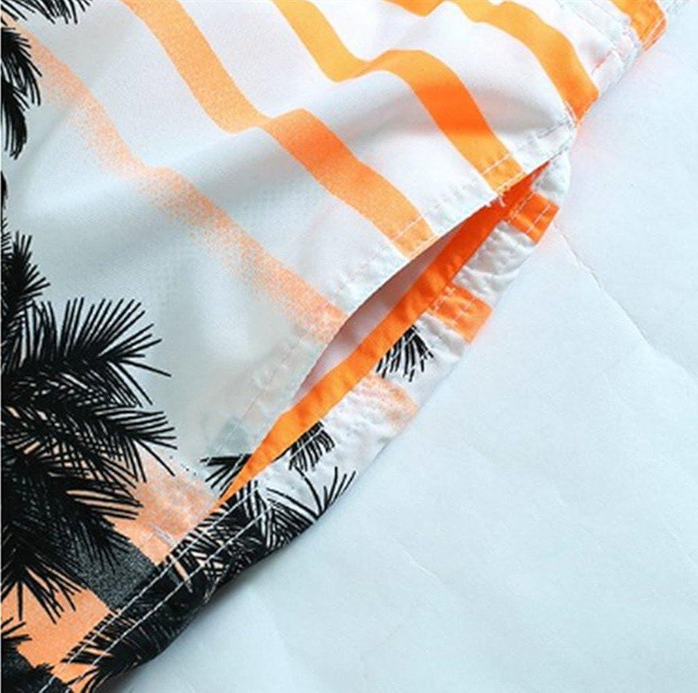 Amao Mens Colorful Coconut Tree Printing Beach Board Shorts