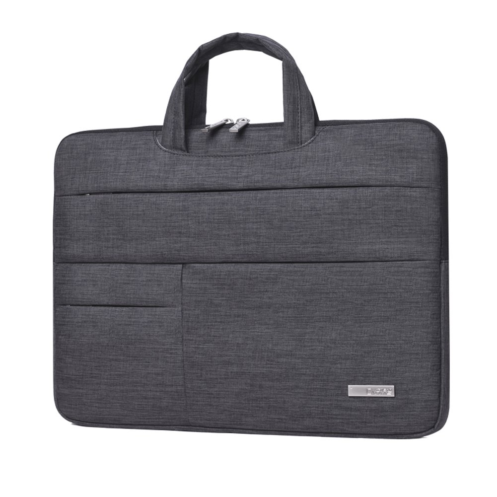 14 Inch Laptop sleeve Tablet Bag with Hand Strap Feisman Water-resistant 14 inch laptop case with Zipper Pockets 14 inch 14.6 inch Notebooks Handbag case -Dark Grey
