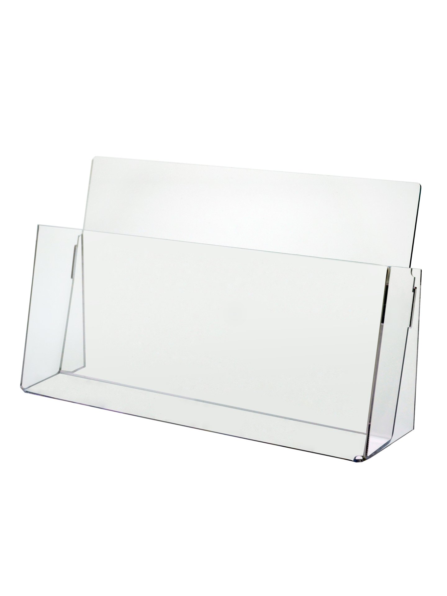 Marketing Holders Clear Acrylic Counter Top Brochure Holder for ''11 x 8 1/2'' Material