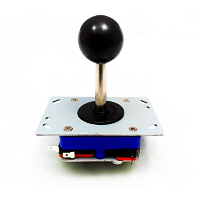 Atomic Market 2/4/8 Way Adjustable Arcade Joystick PC Fighting Stick Parts for Video Game Arcade Black Ball Tall: Toys & Games