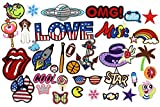 #2: Iron on patches [35 Pcs] Assorted Size Iron Embroidery Applique Decoration DIY Patch for Jeans Clothing Backpacks