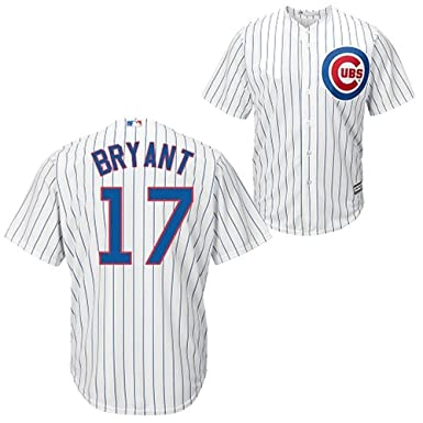size 40 39bc1 651e0 Kris Bryant Chicago Cubs White Youth Cool Base Home Replica Jersey (Small 8)