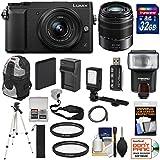 Panasonic Lumix DMC-GX85 4K Wi-Fi Digital Camera & 12-32mm & 45-150mm Lens (Black) 64GB Card + Battery + Charger + Cases + Tripod + Flash + Filters + Cleaning Kit