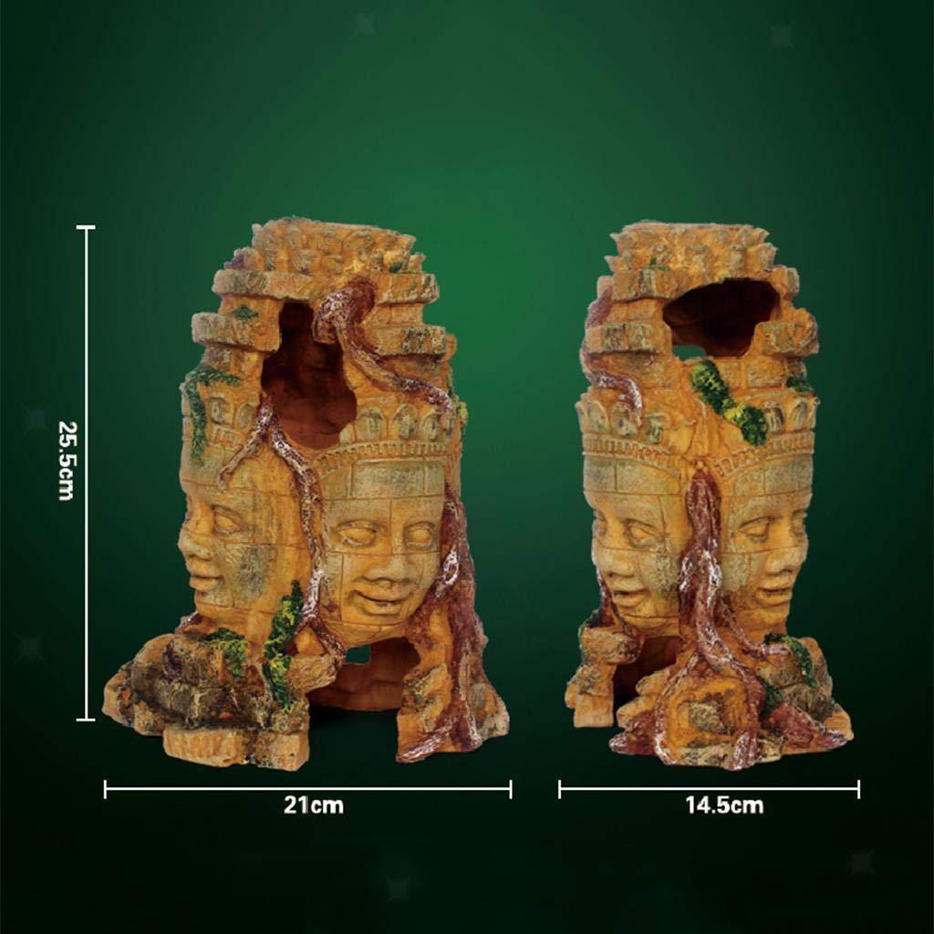 FidgetGear Resin Decorative Ornament for Reptile Terrarium Landscape Decor  1 Buddha