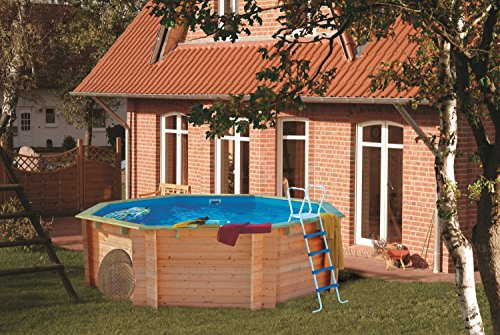 Holzpool Set 4,00 x 1,20 m Holzschwimmbecken Pool Holzbecken