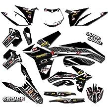 Senge Graphics Late 2001 KTM SX (Has the same plastics as the 2002 SX 250), Podium Black Graphics Kit