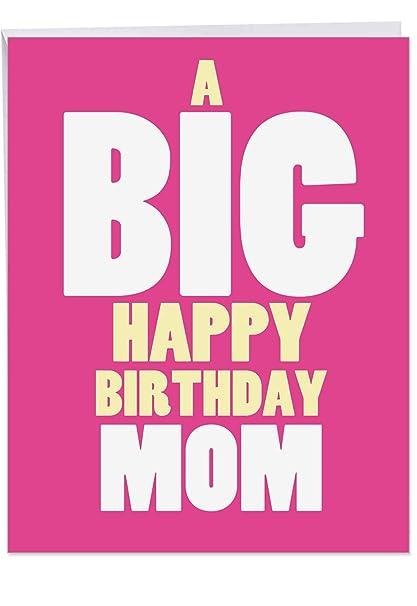 j5972bmg Jumbo divertido cumpleaños madre tarjeta de ...