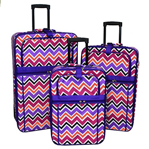 Chevron Multi Expandable Upright Luggage Set