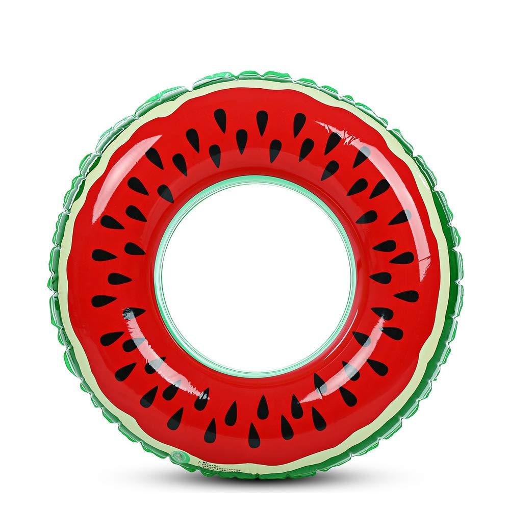 LIUYUNE,Boule Flottante d'anneau de Natation Gonflable de pastèque dans la Piscine des Enfants Adultes(Color:Rouge,Size:DIAMETRE 60CM)