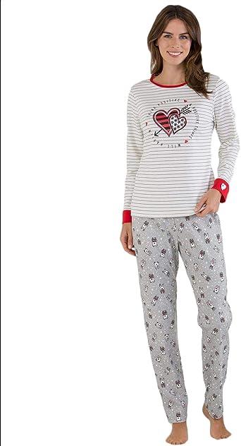 Massana - Pijama corazon L, Crudo: Amazon.es: Ropa y accesorios
