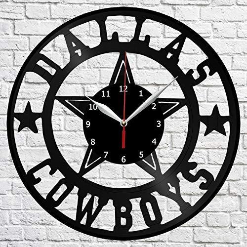 Dallas-Cowboys Vinyl Record Wall Clock Decor Home Original Gift Unique Design Handmade idea