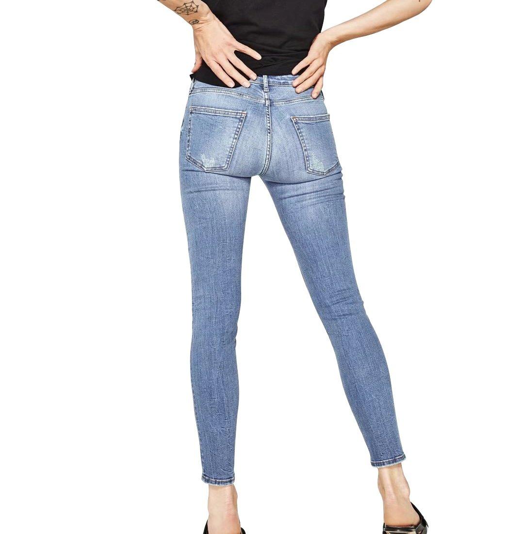 Mena UK Damen Vintage Blume gestickte Knöchel Grazers Damen Skinny Jeans  Bleistift Hose: Amazon.de: Bekleidung