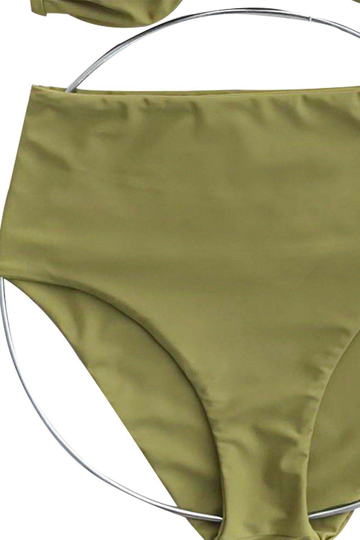 Amazon.com: cupshe Moda Té Verde de la mujer bikini halter ...