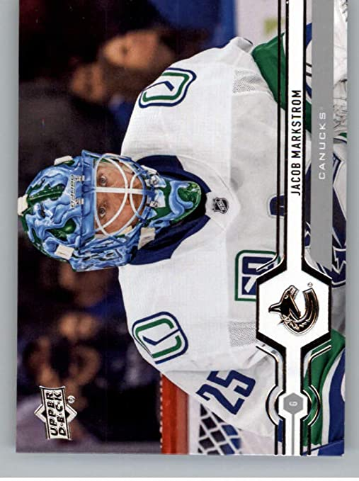 Amazon Com 2019 20 Upper Deck Hockey 419 Jacob Markstrom Vancouver Canucks Official Series Two Trading Card From Ud Collectibles Fine Art