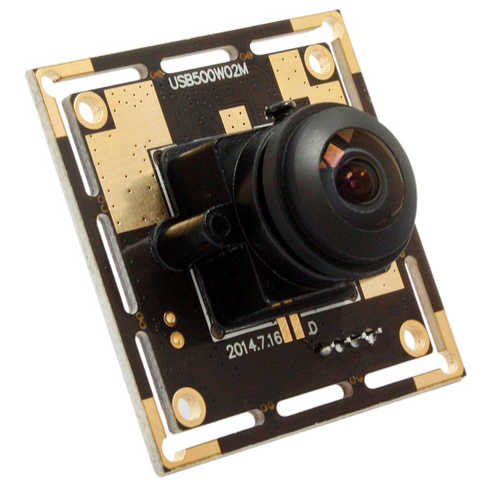 5 Magapixel USB Camera 170 Degree Fisheye Camera High Definition 2592X1944 USB Webcamera with CMOS OV5640 Image Sensor USB with Camera, Wide Angle Machine Vision Mini Webcam,Web Cams Plug&Play UVC by Camera USB (Image #3)