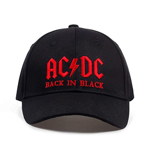 HOMES1 AC/DC Band Baseball Cap Rock Hip hop Cap Mens ACDC Snapback hat Embroidery
