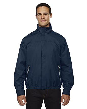 North End Mens Micro Twill Lightweight Waterproof Bomber Jacket at