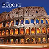 Europe 2020 12 x 12 Inch Monthly Square Wall Calendar, Travel Europa Scenic