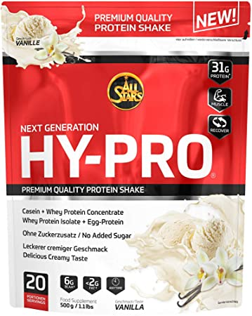 All Stars Hy-Pro Protein, Vanille, 1er Pack (1 x 500 g)  Amazon.de ... 283128252a