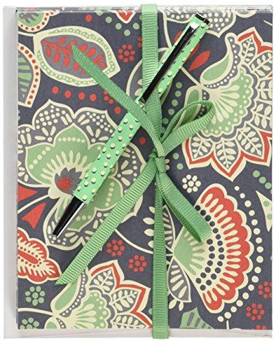 Vera Bradley Notecards with Pen in Nomadic Floral (15208-374) (Vera Bradley Ribbon Board)