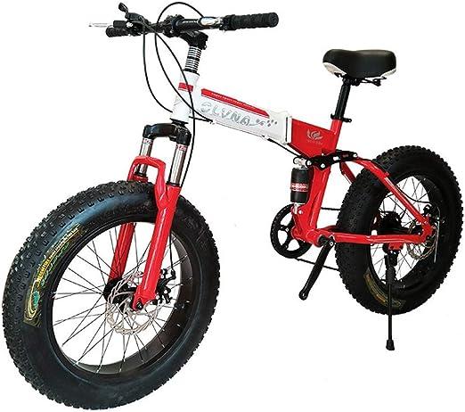 KOSGK Bicicleta MontañA Plegable 20/26 Pulgadas, 27 Velocidades ...