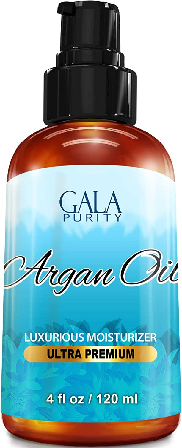 Virgin Argan Oil - Large 4oz - Moroccan Variety, Best All Natural Moisturizer for Hair, Skin, Face and Nails: Conditioning, Anti-Aging, Eliminate Dryness, Improve Skin, Acne, Nails & Cuticles