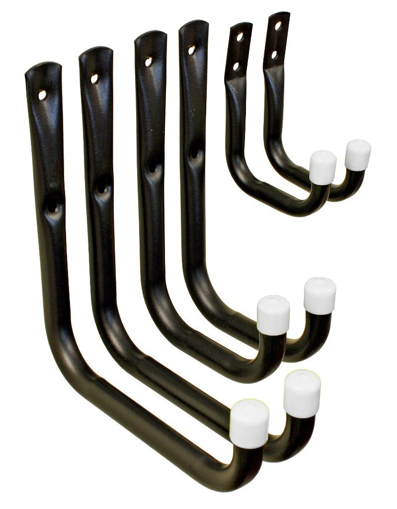 Shepherd Hardware 8088E Heavy Duty Steel Garage Storage/Utility Hooks, 6 Pack by Shepherd Hardware