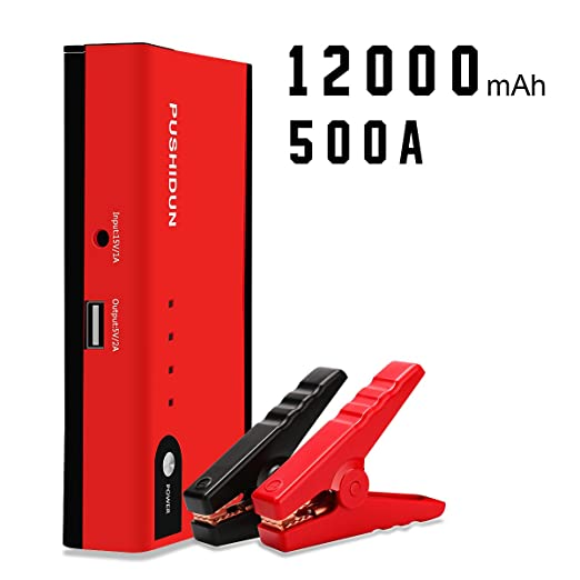 53 opinioni per Jump Starter 500A AMPS 12000mAh Auto Avviatore per 12V 3.0L Motori a Benzina e